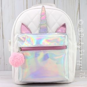 Holographic Quilted Unicorn Backpack